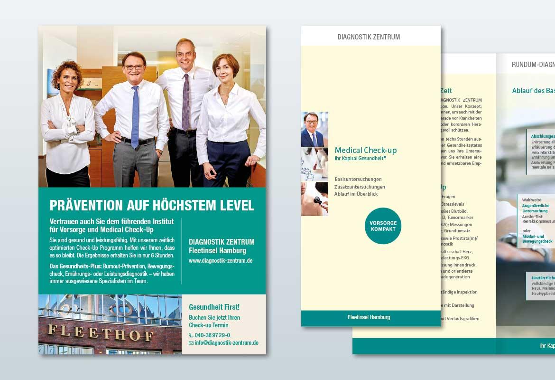 Print-Werbemittel: Anzeigen und Folder